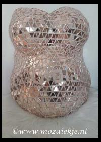 Gipsbuik met spiegelglas mozaiek