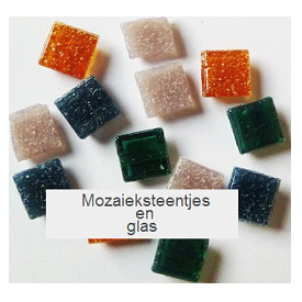 Mozaiek steentjes en glas