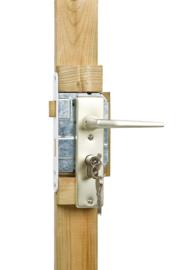 Eindplank tbv poortframe,  incl aluminium slot