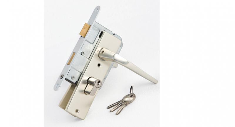 Inbouw cylinderslot Aluminium Compleet
