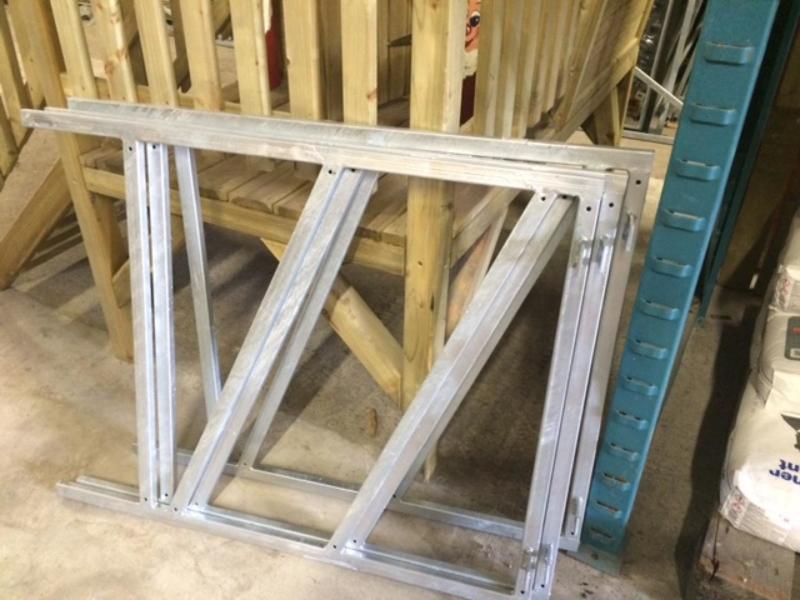 Verstelbaar poortframe ( voor tuinhek max. 1m breed 80x100)