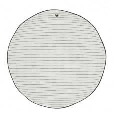 Soup/Pasta Plate Stripes /edge Black 21x5cm