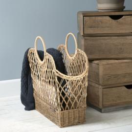 Rustic Rattan Favourite Magazines Basket