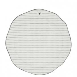 Dinner Plate stripes/edge black 27