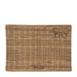 Rustic Rattan Pretty Bow Placemat
