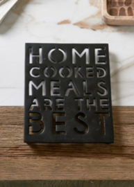 Home Cooked Meals Trivet black