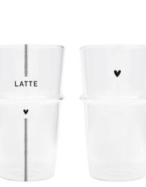 Latte glas Heart of Latte