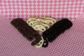 Chocolade krakelingen, handgemaakt