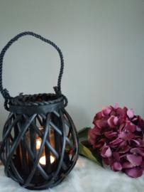 zwart bamboe windlicht