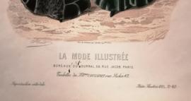 Prachtige modeprent uit 1885, La Mode Illustree, no 40