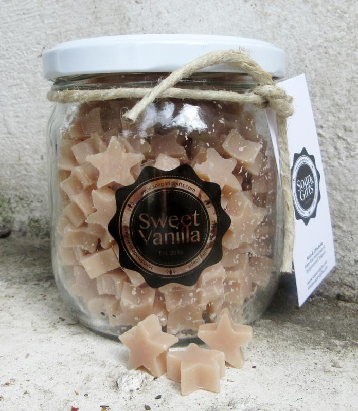 Pot met kleine zeepjes (Sweet Vanilla)