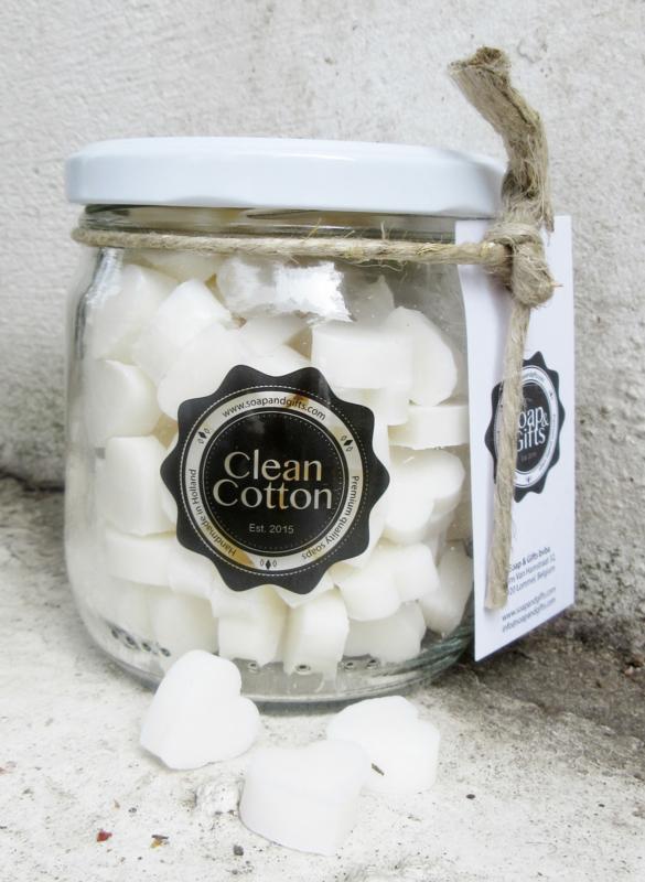 Pot kleine zeepjes (Clean Cotton)