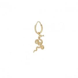 Anna Nina Single Snake Earring Small Goldplated