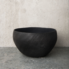 UNC Bowl of nature black , Ø25 cm