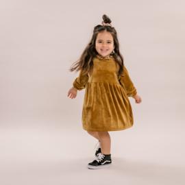 No labels kidswear  dress velvet gold