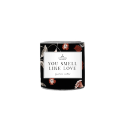 The gift label - candle in tin - jasmine vanille - you smell like love small