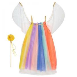 Meri meri regenboog jurk  maat 3+
