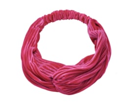 Haarband velvet dark pink