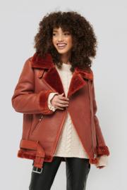 NAKD Bonded Aviator jacket rust