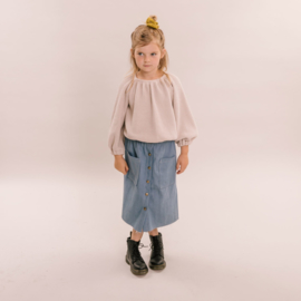 No labels kidswear maxi skirt denim