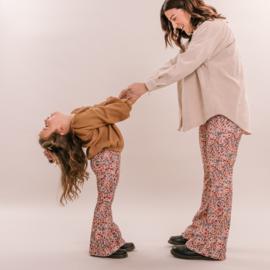 No labels kidswear mom flare pants flower