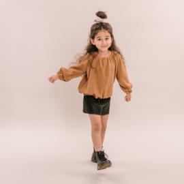 No labels kidswear  balloon top knit camel