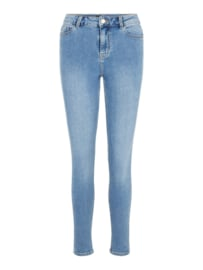 mid waist ankle light blue jeans