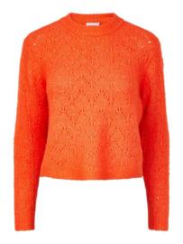 PIECES Regina Knitted sweater - Cherry