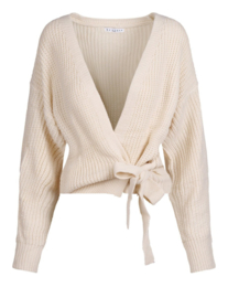 Knitted cardigan off white