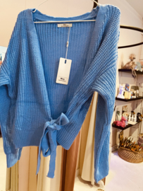 Wrap cardigan blue