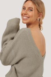 NAKD Oversized Deep Back Sweater