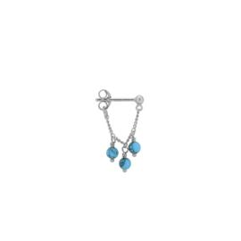Anna Nina Single Dead Sea Chain Earring Silver