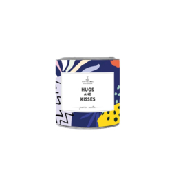 The gift label  - candle in tin - Jasmine vanille - Hugs and kisses small