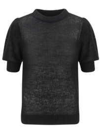 Ydence knitted top krista black