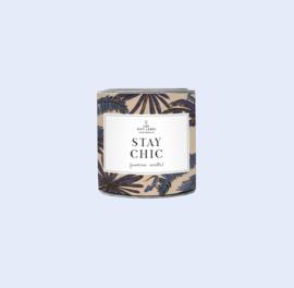 The gift label - geurkaars small - Jasmine Vanilla - Stay chic