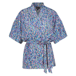 Oscar & Jane kimono leopard blue