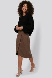 Nakd knitted balloon sweater black