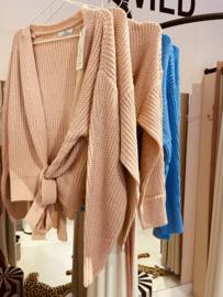 Wrap cardigan pink