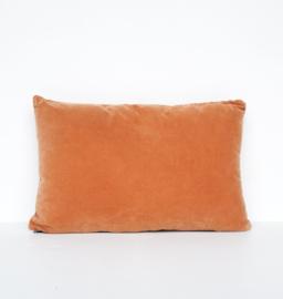 UNC Cushion Vintage velvet Oranje kussen