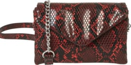 Cross body snake racing red