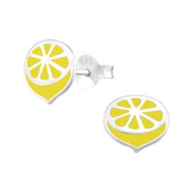 Kinder oorbellen - citroen