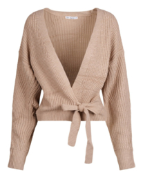 Knitted cardigan peach/zand