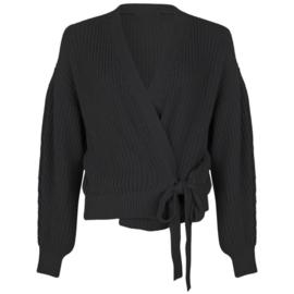 Knoop cardigan zwart