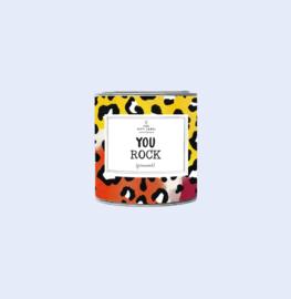 The gift label - geurkaars small - Jasmine vanilla - You rock