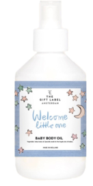 Baby Body Oil - Welcome Little One Paars