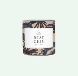 The gift label - geurkaars big - Jasmine vanilla - stay chic