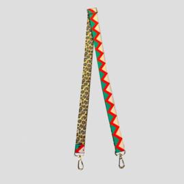 Bag strap green multicolor
