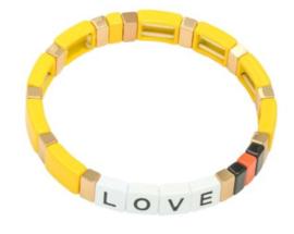 Armband geel goud LOVE