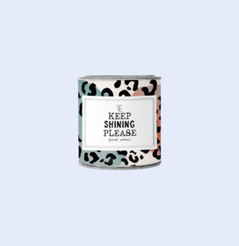 The gift label candle in tin - jasmine vanille  - Keep shining small