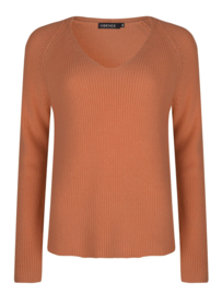YDENCE knitted sweater Tess pink/brown